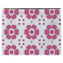 Sweety Pink Floral Pattern Cosmetic Bag (xxxl)