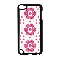 Sweety Pink Floral Pattern Apple iPod Touch 5 Case (Black)