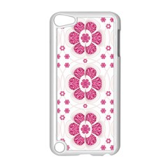 Sweety Pink Floral Pattern Apple iPod Touch 5 Case (White)