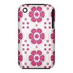 Sweety Pink Floral Pattern Apple Iphone 3g/3gs Hardshell Case (pc+silicone)