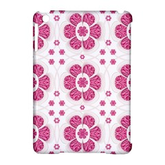 Sweety Pink Floral Pattern Apple Ipad Mini Hardshell Case (compatible With Smart Cover)