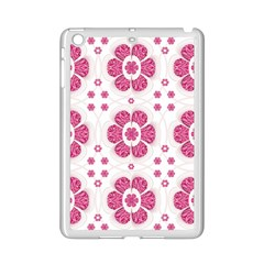 Sweety Pink Floral Pattern Apple iPad Mini 2 Case (White)