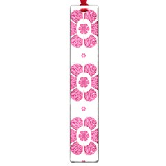 Sweety Pink Floral Pattern Large Bookmark