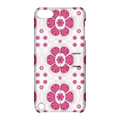 Sweety Pink Floral Pattern Apple Ipod Touch 5 Hardshell Case With Stand