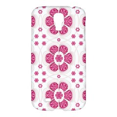 Sweety Pink Floral Pattern Samsung Galaxy S4 I9500/i9505 Hardshell Case