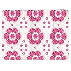 Sweety Pink Floral Pattern Samsung Galaxy Tab 7  P1000 Flip Case