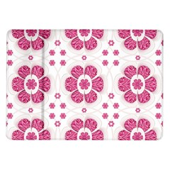 Sweety Pink Floral Pattern Samsung Galaxy Tab 10.1  P7500 Flip Case