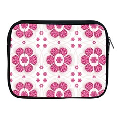 Sweety Pink Floral Pattern Apple Ipad Zippered Sleeve