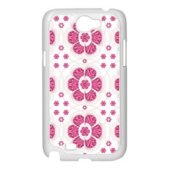 Sweety Pink Floral Pattern Samsung Galaxy Note 2 Case (White)