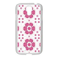 Sweety Pink Floral Pattern Samsung Galaxy S4 I9500/ I9505 Case (white)