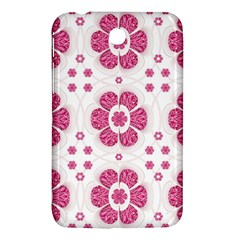 Sweety Pink Floral Pattern Samsung Galaxy Tab 3 (7 ) P3200 Hardshell Case