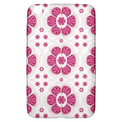 Sweety Pink Floral Pattern Samsung Galaxy Tab 3 (8 ) T3100 Hardshell Case