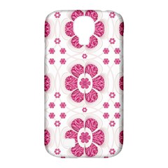 Sweety Pink Floral Pattern Samsung Galaxy S4 Classic Hardshell Case (pc+silicone)