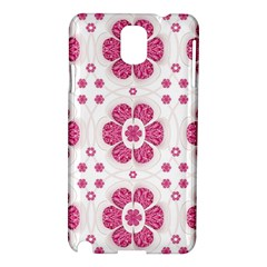 Sweety Pink Floral Pattern Samsung Galaxy Note 3 N9005 Hardshell Case
