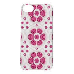 Sweety Pink Floral Pattern Apple Iphone 5s Hardshell Case