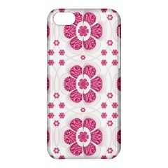 Sweety Pink Floral Pattern Apple iPhone 5C Hardshell Case