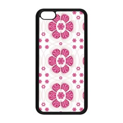 Sweety Pink Floral Pattern Apple Iphone 5c Seamless Case (black)