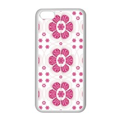 Sweety Pink Floral Pattern Apple iPhone 5C Seamless Case (White)