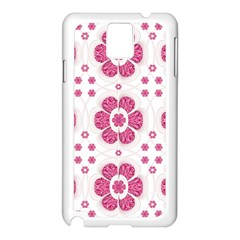 Sweety Pink Floral Pattern Samsung Galaxy Note 3 N9005 Case (White)
