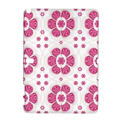 Sweety Pink Floral Pattern Samsung Galaxy Note 10.1 (P600) Hardshell Case