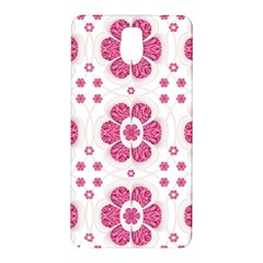 Sweety Pink Floral Pattern Samsung Galaxy Note 3 N9005 Hardshell Back Case