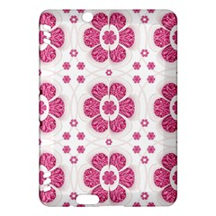 Sweety Pink Floral Pattern Kindle Fire HDX 7  Hardshell Case