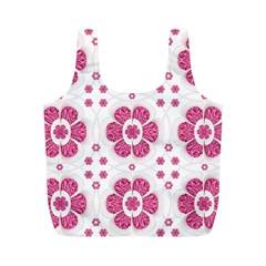 Sweety Pink Floral Pattern Reusable Bag (M)
