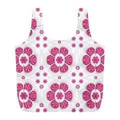 Sweety Pink Floral Pattern Reusable Bag (l)