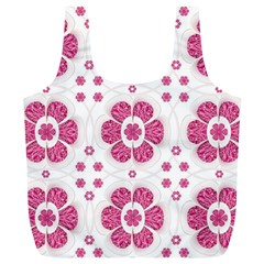 Sweety Pink Floral Pattern Reusable Bag (xl)