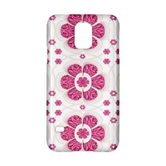 Sweety Pink Floral Pattern Samsung Galaxy S5 Hardshell Case