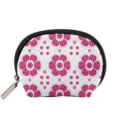 Sweety Pink Floral Pattern Accessory Pouch (Small)