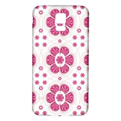Sweety Pink Floral Pattern Samsung Galaxy S5 Back Case (White)