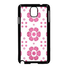Sweety Pink Floral Pattern Samsung Galaxy Note 3 Neo Hardshell Case (Black)