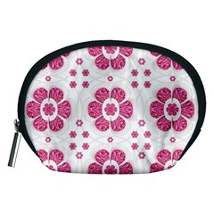 Sweety Pink Floral Pattern Accessory Pouch (Medium)