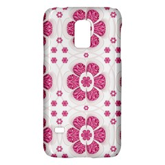 Sweety Pink Floral Pattern Samsung Galaxy S5 Mini Hardshell Case