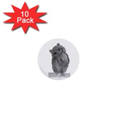 Owl 1  Mini Button (10 pack)