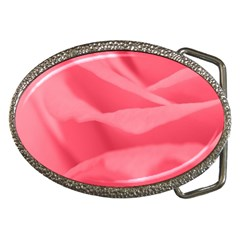 Pink Silk Effect  Belt Buckle (Oval)