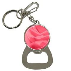 Pink Silk Effect  Bottle Opener Key Chain