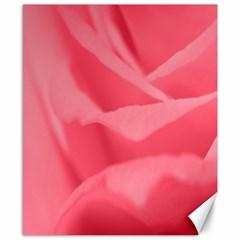Pink Silk Effect  Canvas 8  x 10  (Unframed)