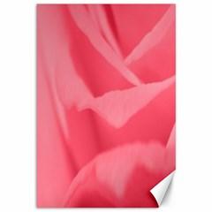 Pink Silk Effect  Canvas 12  x 18  (Unframed)