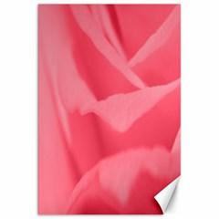 Pink Silk Effect  Canvas 20  X 30  (unframed)