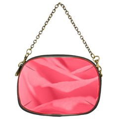 Pink Silk Effect  Chain Purse (two Sided)