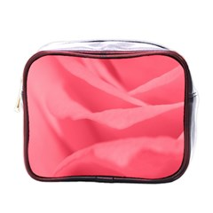 Pink Silk Effect  Mini Travel Toiletry Bag (one Side)