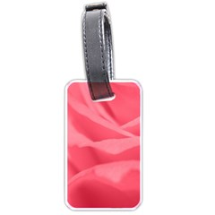 Pink Silk Effect  Luggage Tag (two Sides)