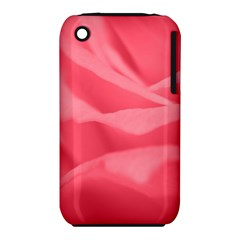 Pink Silk Effect  Apple iPhone 3G/3GS Hardshell Case (PC+Silicone)
