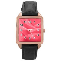 Pink Silk Effect  Rose Gold Leather Watch