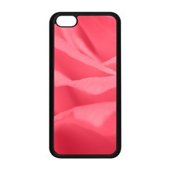 Pink Silk Effect  Apple Iphone 5c Seamless Case (black)