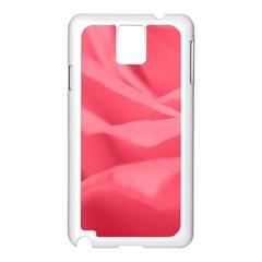 Pink Silk Effect  Samsung Galaxy Note 3 N9005 Case (White)