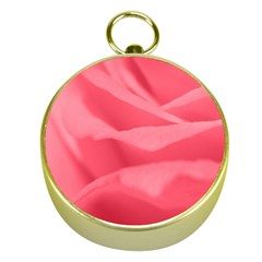 Pink Silk Effect  Gold Compass