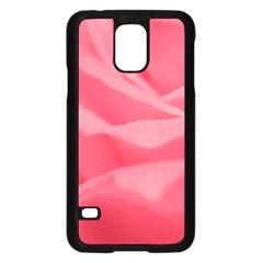 Pink Silk Effect  Samsung Galaxy S5 Case (black)